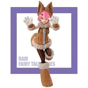 Figurine Re Zero kara Hajimeru Isekai Seikatsu Ram Wolf and Seven Little Goats