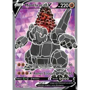 Carte Pokémon Épée et Bouclier Voltage Éclatant Monthracite V 173/185