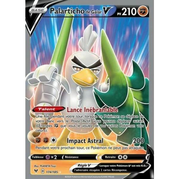 Carte Pokémon Épée et Bouclier Voltage Éclatant Palarticho V 174/185