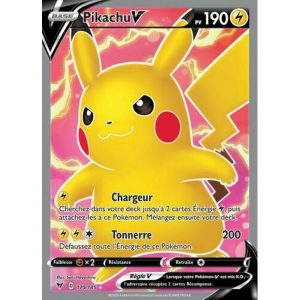 Carte Pokémon Épée et Bouclier Voltage Éclatant Pikachu V 170/185 Full Art
